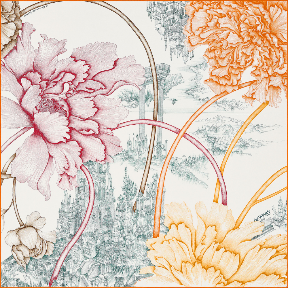 Hermès partners with international artists to design the iconic Carré scarves (фото 5)