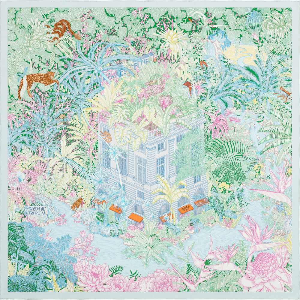 Hermès partners with international artists to design the iconic Carré scarves (фото 6)