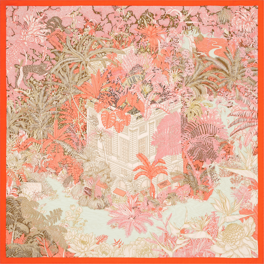 Hermès partners with international artists to design the iconic Carré scarves (фото 7)
