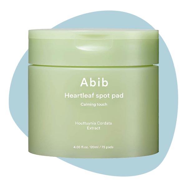 Гипоаллергенные тонизирующие диски с экстрактом хауттюйнии сердцевидной 75 шт Abib Heartleaf spot pad Calming touch 120ml/75 pads