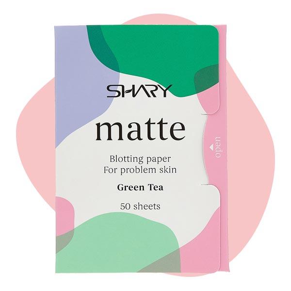 Матирующие салфетки для лица для проблемной кожи Green Tea, Shary Matte