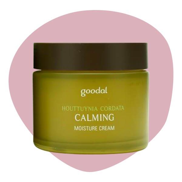 Успокаивающий крем для чувствительной кожи с экстрактом хауттюйнии сердцевидной goodal Houttuynia cordata Calming Moisture Cream 75ml.