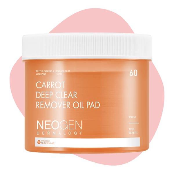 Очищающие гидрофильные пэды с морковью Neogen Carrot Deep Clear Remover Oil Pad 150ml (60 pads)