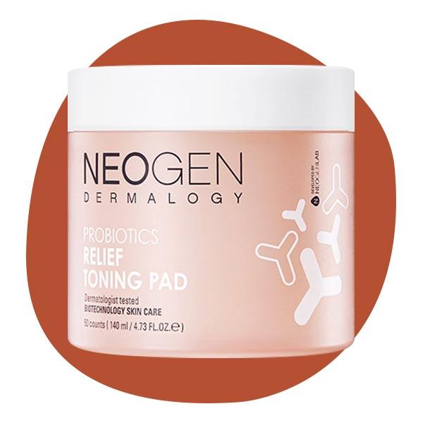 Увлажняющие тонер-пэды с пробиотиками Neogen probiotics relief toning pad 140ml (50 pads)
