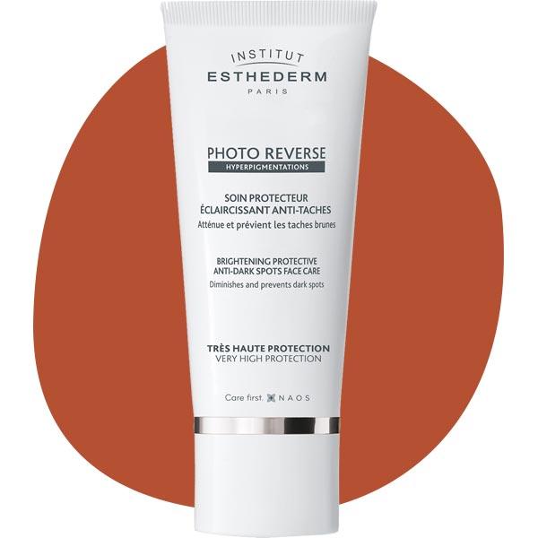 Крем с ультравысокой степенью защиты для кожи с неровным цветом Sun High Protective Care Photo Reverse, Institut Esthederm