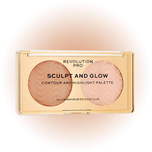 Бронзер и хайлайтер Sculpt & Glow, Revolution Pro