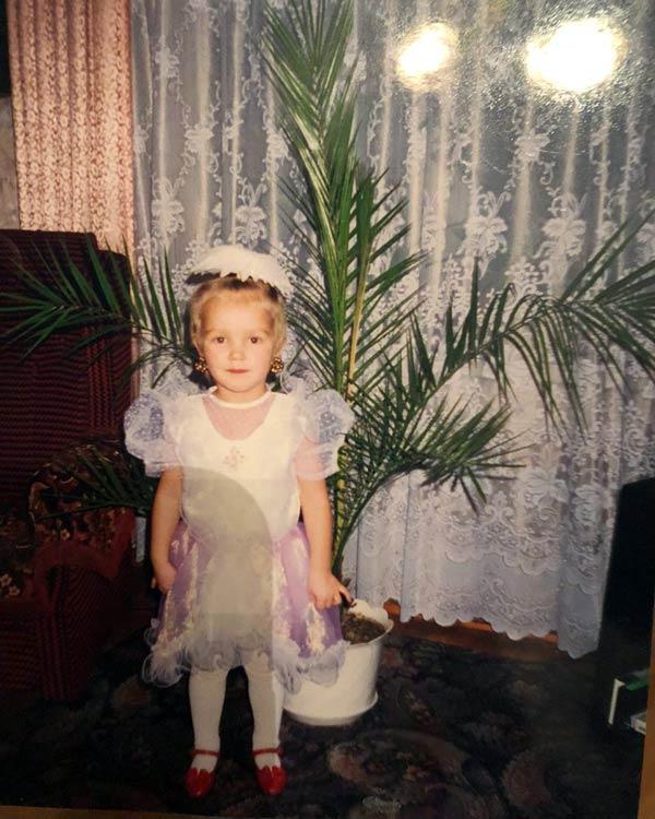 Ксения Сергиенко в детстве