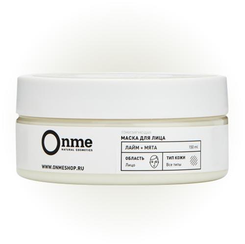 Тонизирующая маска для лица «Лайм + мята», Onme
