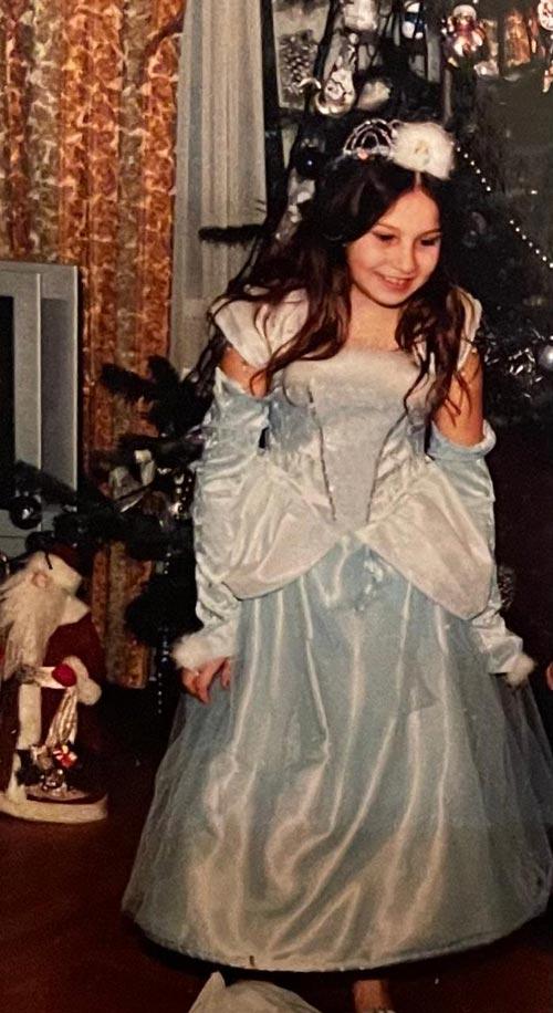 Карина Андреева в детстве